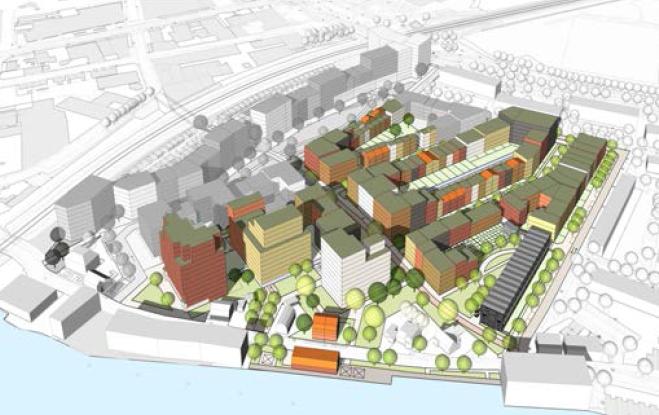 illustratie van het plan voor 750 woningen Hofwijk Noord
